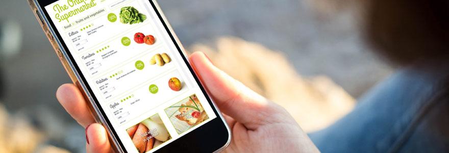 Faire les courses en utilisant votre smartphone